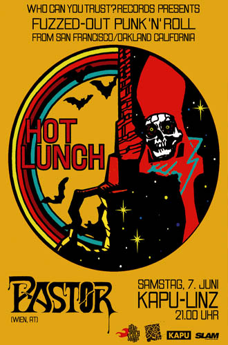 (C) Who Can You Trust? Records / HOT LUNCH Linz 2014 Flyer