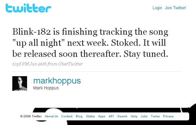 (c) twitter.com/markhoppus/status/2353425377
