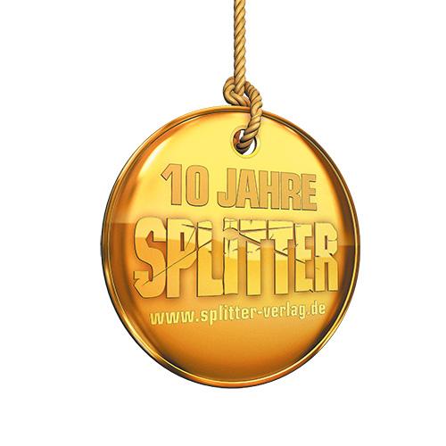 (C) Splitter Verlag / 10 Jahre Splitter Verlag Logo / Zum Vergrößern auf das Bild klicken