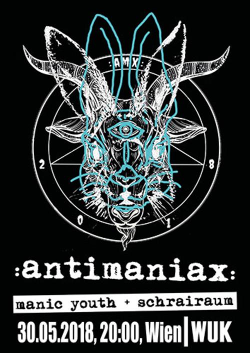 (C) ANTIMANIAX / ANTIMANIAX Wien 2018 Flyer / Zum Vergrößern auf das Bild klicken