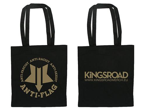 (C) Kings Road Merch / ANTI-FLAG Star Logo Totebag / Zum Vergrößern auf das Bild klicken