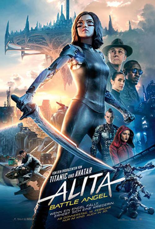 (C) 20th Century Fox / Alita: Battle Angel Kinoposter / Zum Vergrößern auf das Bild klicken
