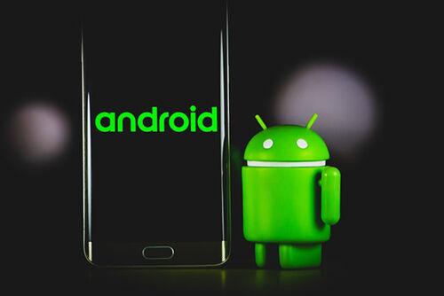 Bugdroid mit Android Smartphone