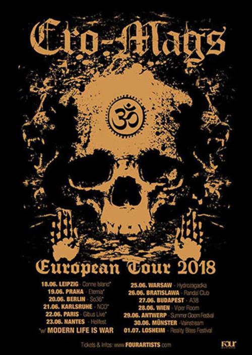 (C) Four Artists / CRO-MAGS European Tour 2018 Poster / Zum Vergrößern auf das Bild klicken