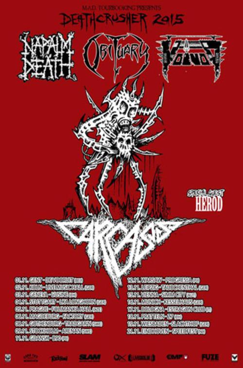 (C) MAD Tourbooking / Deathcrusher Tour 2015 Flyer / Zum Vergrößern auf das Bild klicken