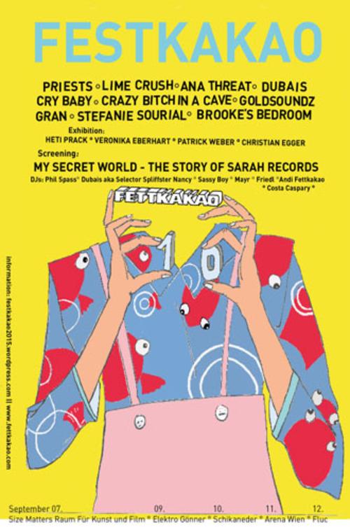 (C) Fettkakao / Festkakao - 10 Jahre Fettkakao Flyer / Zum Vergrößern auf das Bild klicken