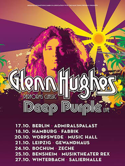 (C) Shooter Promotion/The Main Thing / GLENN HUGHES performs classic DEEP PURPLE Flyer / Zum Vergrößern auf das Bild klicken