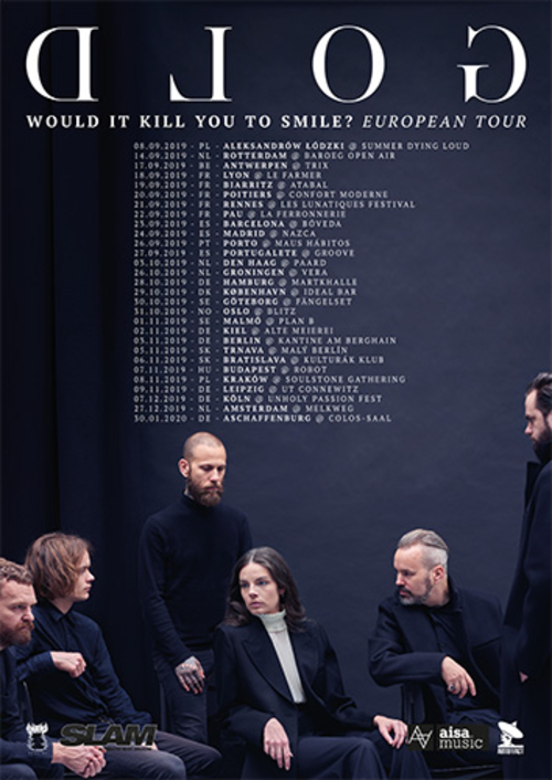 (C) GOLD / GOLD Would It Kill You To Smile? European Tour Poster / Zum Vergrößern auf das Bild klicken