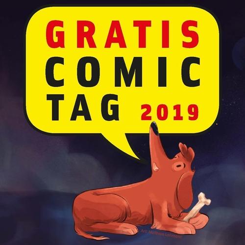 (C) Gratis Comic Tag/Art: Matthias Lehmann / Gratis Comic Tag 2019 Logo / Zum Vergrößern auf das Bild klicken