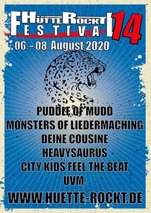 (C) Hütte Rockt Festival / Hütte Rockt Festival 2010 Plakat / Zum Vergrößern auf das Bild klicken
