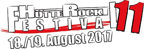 (C) Hütte Rockt Festival / Huette Rockt Festival 2017 Logo / Zum Vergrößern auf das Bild klicken