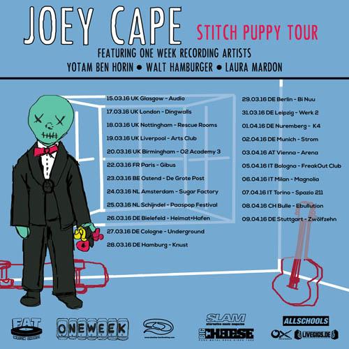 (C) Fat Wreck Chords/Destiny Tourbooking / JOEY CAPE Stitch Puppy Tourposter / Zum Vergrößern auf das Bild klicken