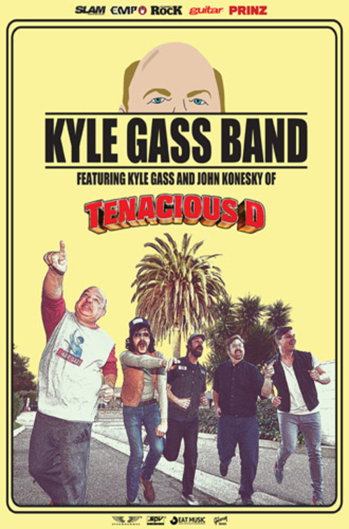 (C) Eat Music / KYLE GASS BAND Tourflyer / Zum Vergrößern auf das Bild klicken