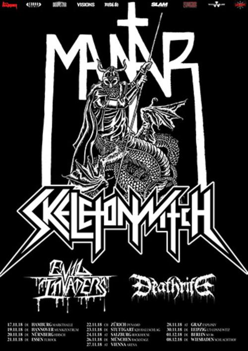 (C) Cobra Agency / MANTAR SKELETONWITCH Tour 2018 Flyer / Zum Vergrößern auf das Bild klicken