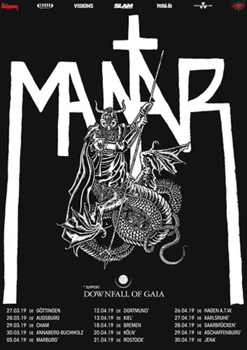 (C) Cobra Agency / MANTAR Tour 2019 Poster / Zum Vergrößern auf das Bild klicken
