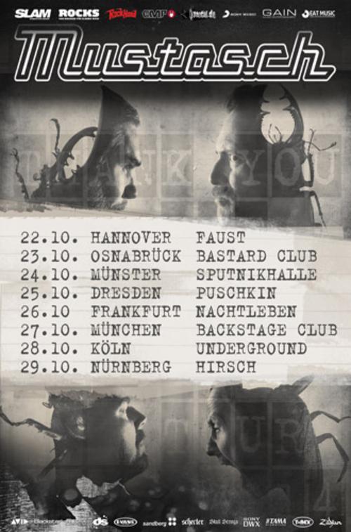(C) Eat Music / MUSTASCH Thank You For The Demon Europe Tour Part 2 Flyer / Zum Vergrößern auf das Bild klicken