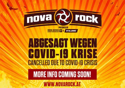(C) Nova Music Entertainment / Nova Rock 2020 Absage / Zum Vergrößern auf das Bild klicken