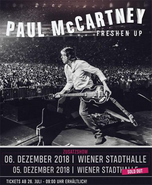 (C) MPL Communications Ltd / PAUL MCCARTNEY: Freshen Up Tour Wiener Stadthalle 2018 / Zum Vergrößern auf das Bild klicken