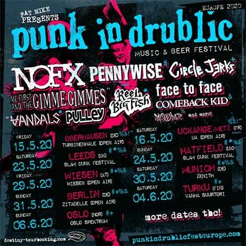 (C) Destiny Tourbooking / Punk In Drublic Fest Europe 2020 Promo / Zum Vergrößern auf das Bild klicken