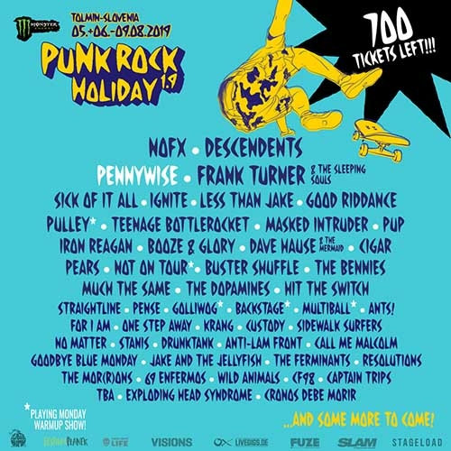 (C) Punk Rock Holiday / Punk Rock Holiday 2019 Flyer / Zum Vergrößern auf das Bild klicken