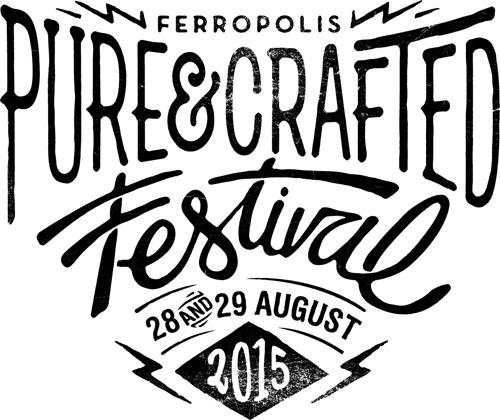 (C) Pure&Crafted Festival / Pure&Crafted Festival 2015 Logo / Zum Vergrößern auf das Bild klicken