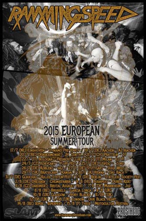 (C) TDB Records / RAMMING SPEED 2015 European Summer Tour Poster / Zum Vergrößern auf das Bild klicken