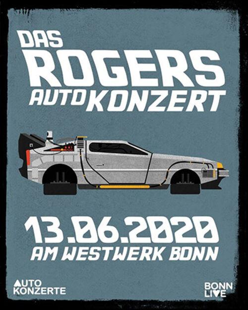 (C) F&M Feral Media / ROGERS Autokonzert Flyer / Zum Vergrößern auf das Bild klicken