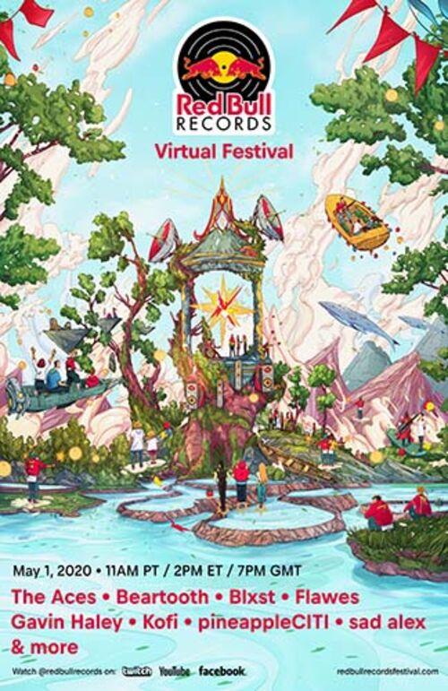 (C) Red Bull Records / Red Bull Records Festival Poster / Zum Vergrößern auf das Bild klicken