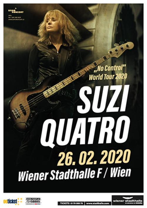 (C) Brno Koncert / SUZI QUATRO Wien 2020 Poster / Zum Vergrößern auf das Bild klicken