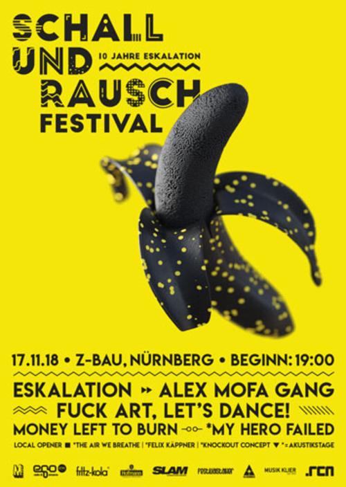 (C) ESKALATION / Schall & Rausch Festival Poster / Zum Vergrößern auf das Bild klicken