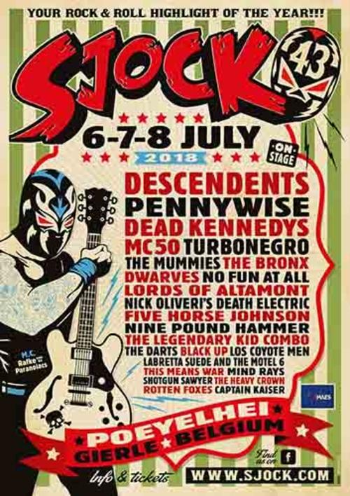 (C) Sjock Festival / Sjock Festival 2018 Main Stage Poster / Zum Vergrößern auf das Bild klicken