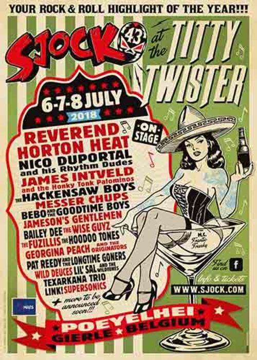 (C) Sjock Festival / Sjock Festival 2018 Titty Twister Poster / Zum Vergrößern auf das Bild klicken