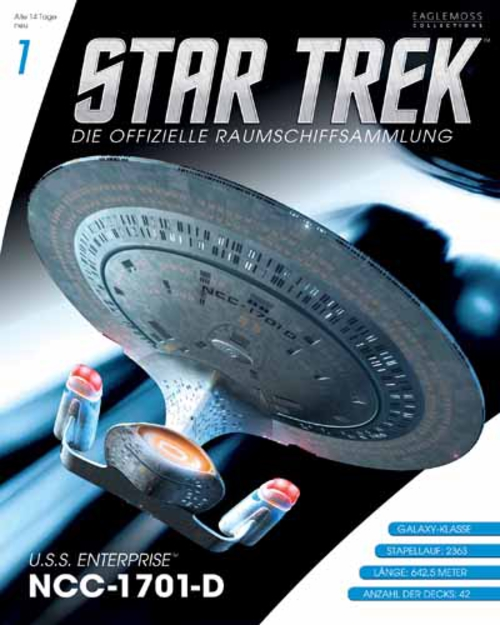 (C) Eaglemoss / Star Trek - Die offizielle Raumschiffsammlung 1 / Zum Vergrößern auf das Bild klicken