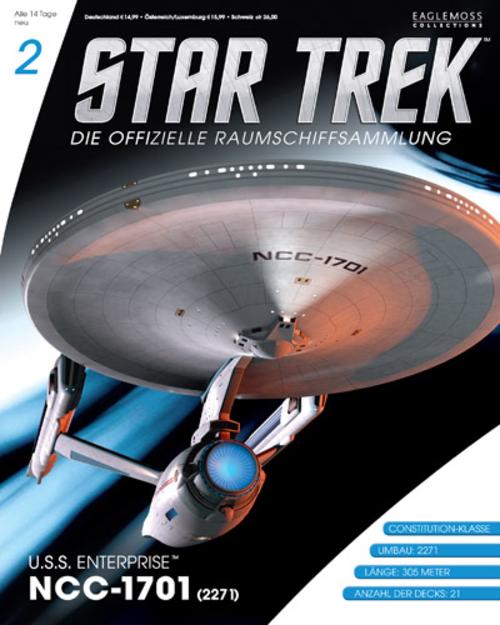 (C) Eaglemoss / Star Trek – Die offizielle Raumschiffsammlung 2 Cover / Zum Vergrößern auf das Bild klicken