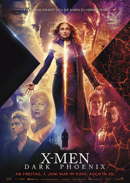 (C) 20th Century Fox / X-Men: Dark Phoenix Kinoplakat / Zum Vergrößern auf das Bild klicken