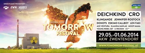 (C) Tomorrow Festival / Tomorrow Festival 2014 Flyer / Zum Vergrößern auf das Bild klicken