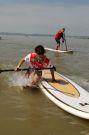 Stand Up Paddle Action @ DWARF8 Surf Worldcup 2009 (c) DMG Michael Gruber / Zum Vergrößern auf das Bild klicken