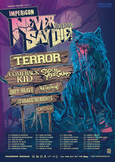 Impericon Never Say Die! Tour 2014 Poster