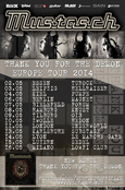 MUSTASCH Thank You For The Demon Europe Tour 2014 Flyer