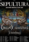 SEPULTURA Machine Messiah Tour 2018 Flyer