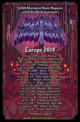 WITCH MOUTAIN Europe 2014 Tourposter