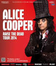 ALICE COOPER Raise The Dead Tour 2014 Poster