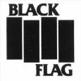 (C) Raymond Pettibon / BLACK FLAG Logo / Zum Vergrößern auf das Bild klicken