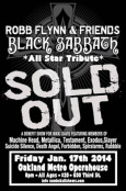 BLACK SABBATH All Star Tribute Flyer
