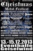 (C) BK-Konzertproduktionen / Christmas Metal Festival 2013 Flyer / Zum Vergrößern auf das Bild klicken