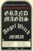 Hunting Across Europe Tour Flyer GRAND MAGUS ANGEL WITCH ENFORCER
