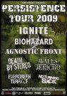 Tourplakat (c) Persistence Tour 2009 / Zum Vergrößern auf das Bild klicken