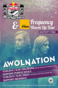 Red Bull Brandwagen Frequency Warm Up Tour Flyer