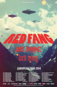 RED FANG Tour 2014 Poster